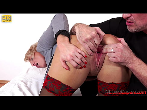 Sexy bank clerk gets her pussy gaped, fisted and fucked hard till she squirts