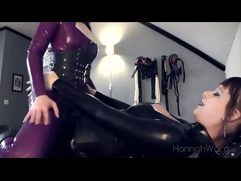 Latex shemale with woman in latex