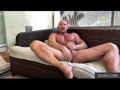 Killian Knox strokes his hard cock and rams ass with a dildo