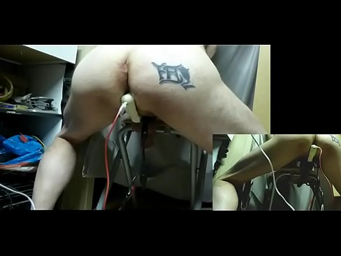electrostim plug ball anal and cock cum, long vid