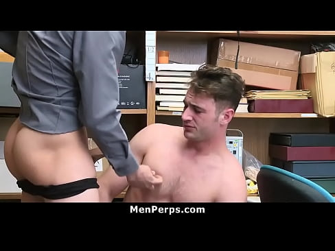 Straight Shoplifter Blackmailed and Fucked By Black Officer