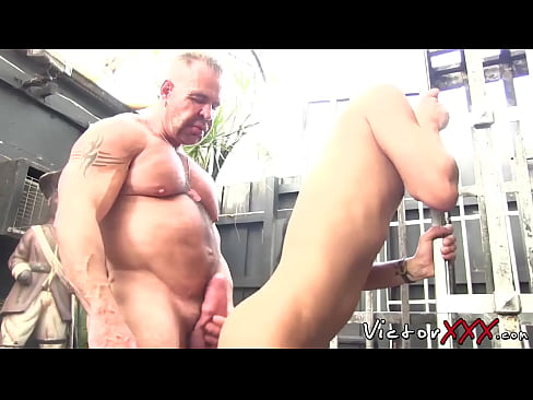 Twinkie cums while being fucked by huge homosexual dom