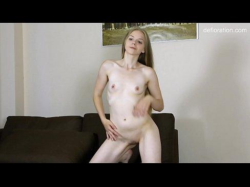 Tiny ass tight pussy blondie Billy Ellis on virgin casting
