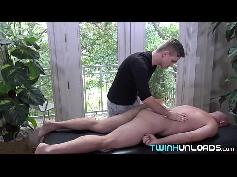 Horny bald daddy Jason Sparks fucked bareback after massage