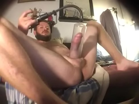 Pumping and stroking my dick