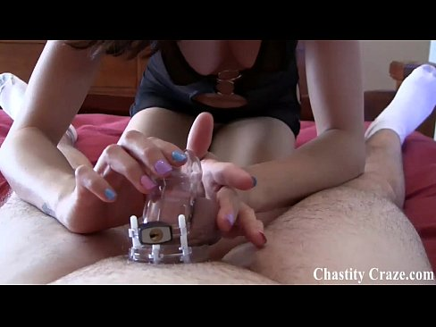 Femdom Chastity Ruined Orgasm