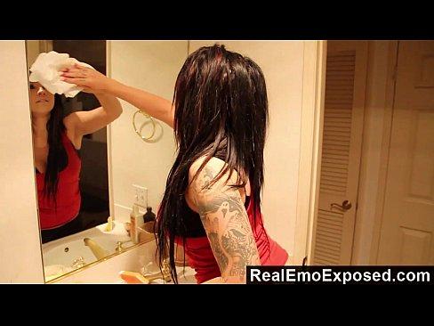 RealEmoExposed - Busty emo slut Angel warm cock sucking