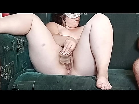 VitLen Fucks her pussy with a fake cock