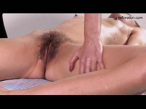 Rita hairy blonde babe massaged