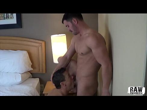 RAW FUCK BOYS - Sexy smooth jock pounds hot and eager bottom bareback