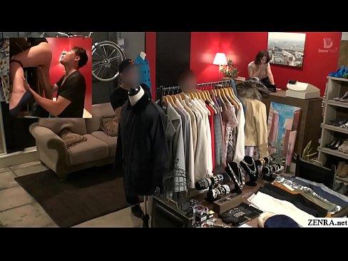 Risky public sex in Japanese clothing shop Tsubasa Hachino