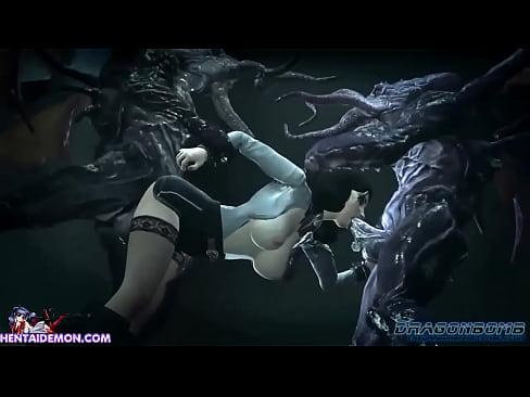 Squid Monster Gangbang