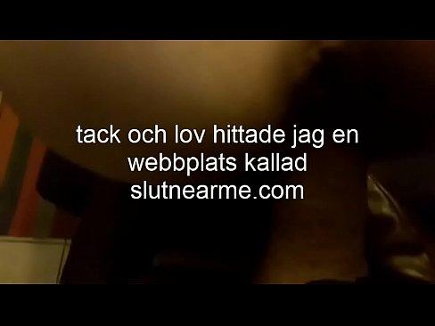 Jävla en liten svensk slampa bakifrån