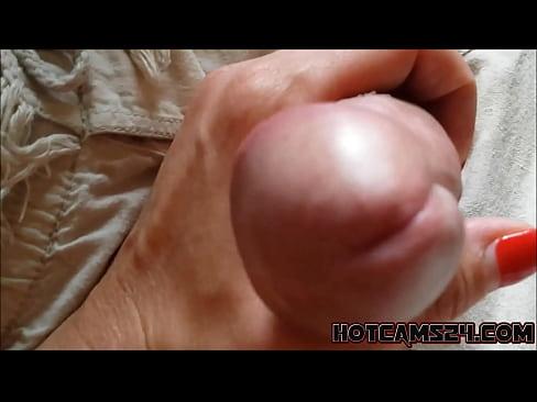sexy blonde handjob playing massage with cock - hotcams24.com