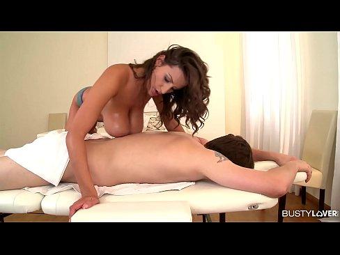 Big Titty erotic masseuse Sensual Jane rides Monster Cock