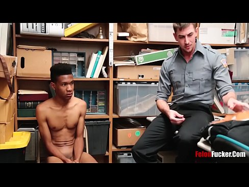 Black Teen Boy Blackmailed By White Cop- Gay