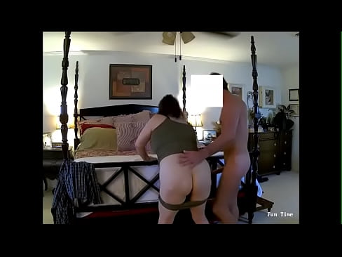 Marie the nasty whore bent over the bed