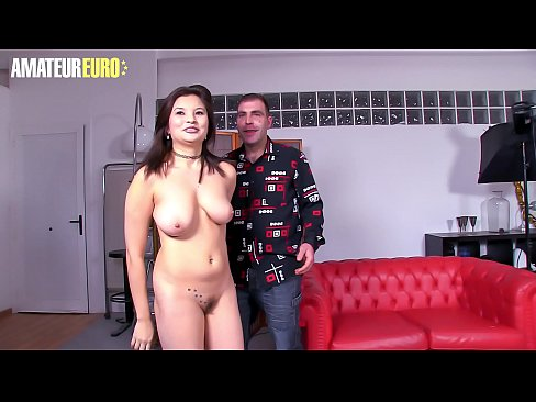 AMATEUR EURO -  Naughty Miyuki Son Pick Up And Fucks With Hairy Amateur Dude