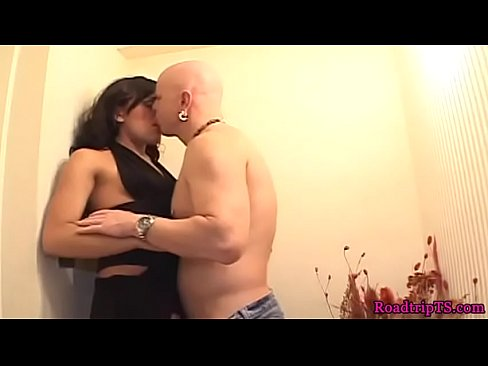 Amateur tranny assfucked sensually after bj