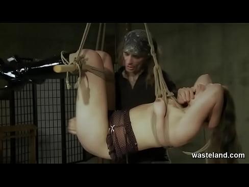 Submissive Brunette Experiences Freedom Through Bondage