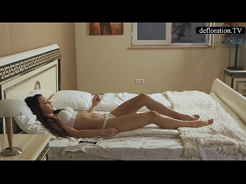 Defloration - Mirella talks about virginity and plays with pussy