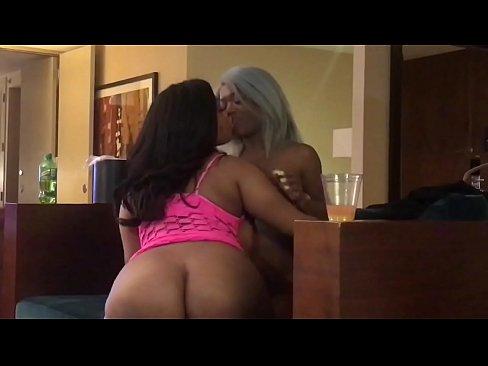 Ms.Yummy & Harmonie two Ebony horny freaks licks on each other