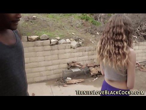 Interracial teen booty