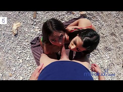 Rosa Rozita & Sofia Pavlidi love to eat some dick & pussy at the beach of Athens! Milfakia.com