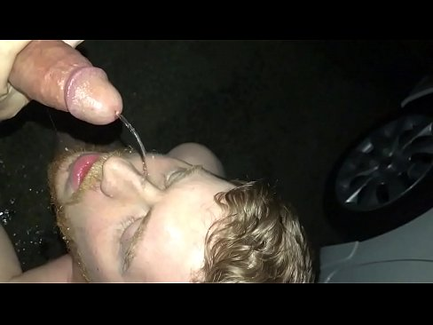 Gay sub drinks from the tap
