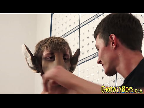 Twink transformed into furry for bareback penetration