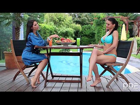 Stunning lesbians Zafira & Kitana Lure indulge in Fetish while Finger Fucking till Orgasm