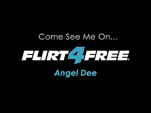 Angel Dee - Flirt4Free - Exotic Blonde w Big Tits Grinds Dildo in a Bikini