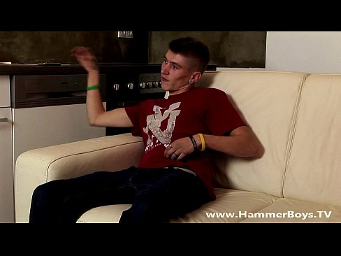 Home alone twink Jaro Sida from Hammerboys TV