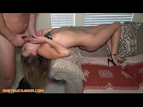 Daddy Forces His Cock Down Hot Blonde Adira Allures Throat