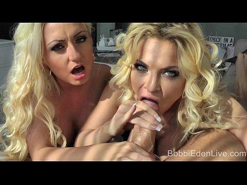 Dynamite Blondes! Bobbi Eden & Milena HOT Handjob!
