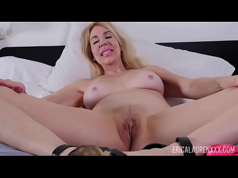 Mature Blonde Erica Lauren Spreads Her Legs And Shows Pussy