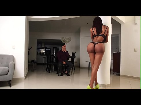 Lady-man rides cock and cums