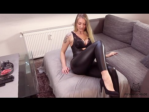 cover video blonde girl get  fucked in leather tights | fi her tights | fi her tights | fio