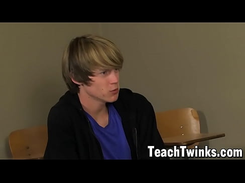 Teacher Tyler Andrews anal fucks twink student Elijah White