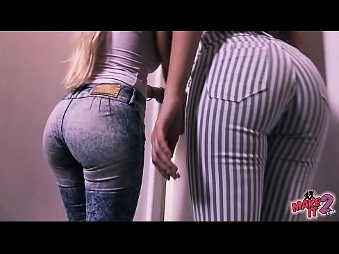 Bubble-Butt Blonde Teen & Perfect Round Ass Brunette Teen!