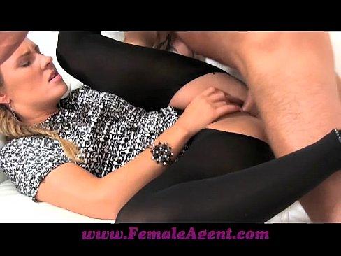 FemaleAgent Shy stud needs help from agent