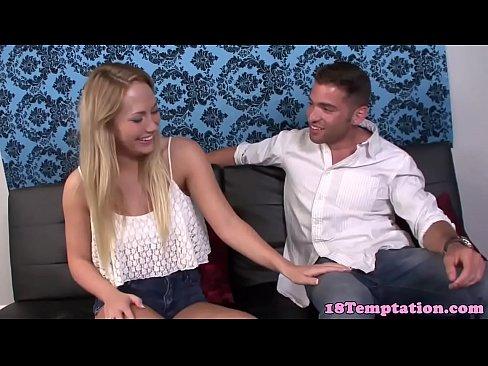 Busty 18yo stepsis teases her stepbros cock