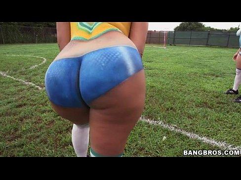 Big ass latinas playing soccer before fucking