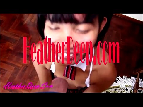 heather Deep 1st ever and cum deep in throat and swallow
