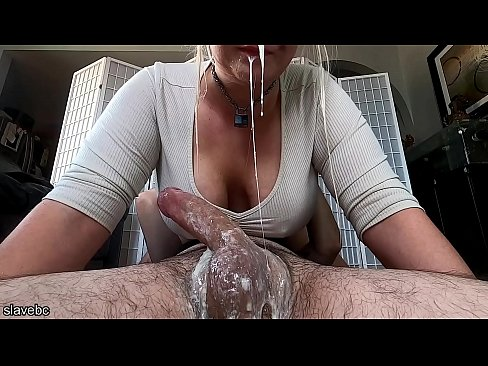 Blonde get messy and pukes on a cock down her throat.