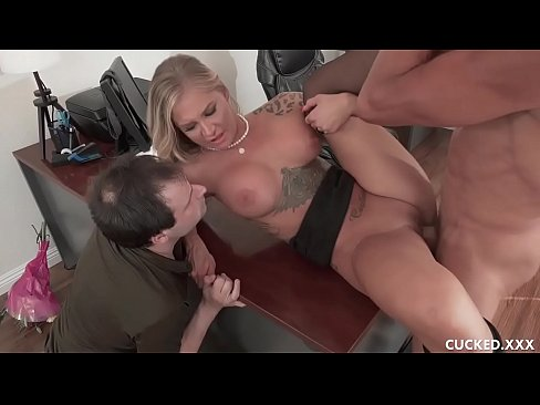 Sissy Cucked Hubby Watches Busty Blonde Wife Gets Eaten Out And Plowed By A Hung Guy