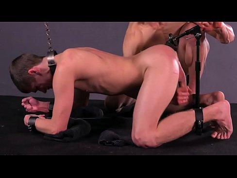 Twink Kory Houston Dildo Fucking While Sucking Huge Cock - Gay BDSM - DreamBoyBondage.com