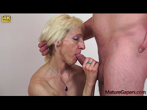 Blonde granny gaped and fucked with big dick