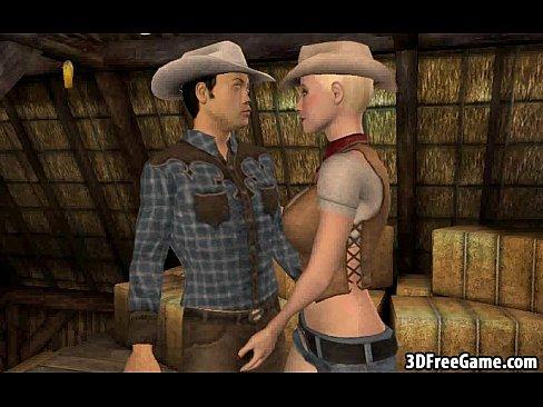 Cartoon Umgekehrtes Cowgirl 3d 3D Cowgirl