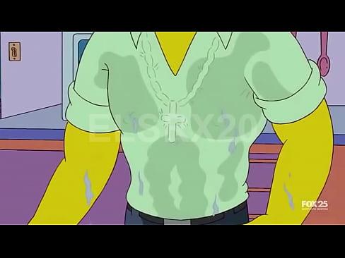 Marge simpson cogiendo con flanders mientras no hay nadie en casa